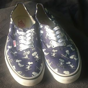Used Unisex Vans Authentic Peanuts Snoopy Shoes.